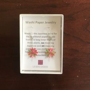 Jewelry - Japanese washi paper earrings